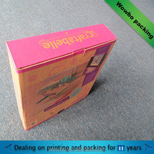 Foldable corrugated cardboard crayon gift box