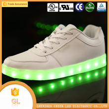 China shoe factory flash light 7 colors men shoes casual