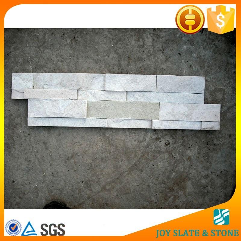 natural white sandstone stacked stone backsplash stone veneer siding