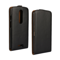 CA156 Factory Price Wholesale For Moto X Force Plain Pattern Magnetic Holster Flip Leather Case Cover