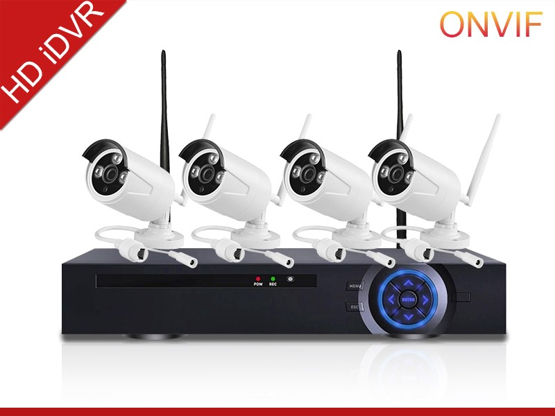 4ch HD waterproof Outdoor Wireless Wired IP Camera WifI NVR Kits for Security system