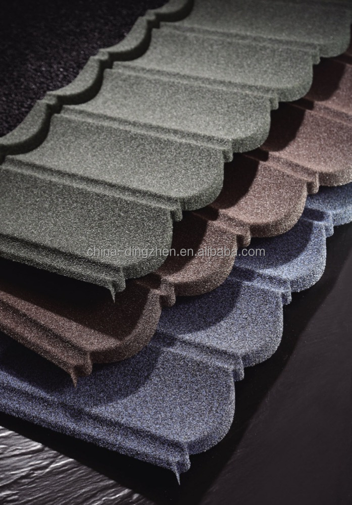 Wanael Metal Roof 50-Year Warranty Low Cost Cheap Colorful Classical Stone Coated Corrugated Lightweight Roof Tile