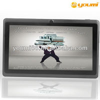 7 inch arm mali-400 3d gpu tablet pc Allwinner A13 with 512RAM+4G ROM