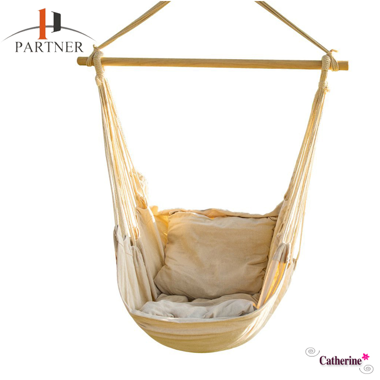 Hanging Rope Hammock Chair Swing Seat Net Chair Porch Chair for Yard, Bedroom, Patio, Porch, Indoor, Outdoor