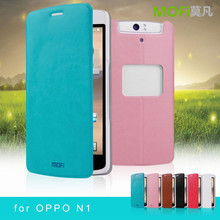 MOFi New Arrival PU Leather Flip Cell Phone Cover Case for OPPO N1, OPPO n-lens, N1T