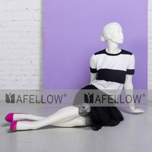 Female mannequin lying on floor mannequin woman sitting Alma 1