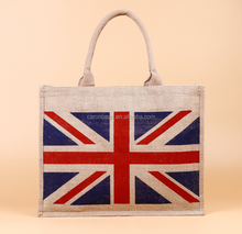 eco friendly customized tote shopping jute burlap gift bags with zipper