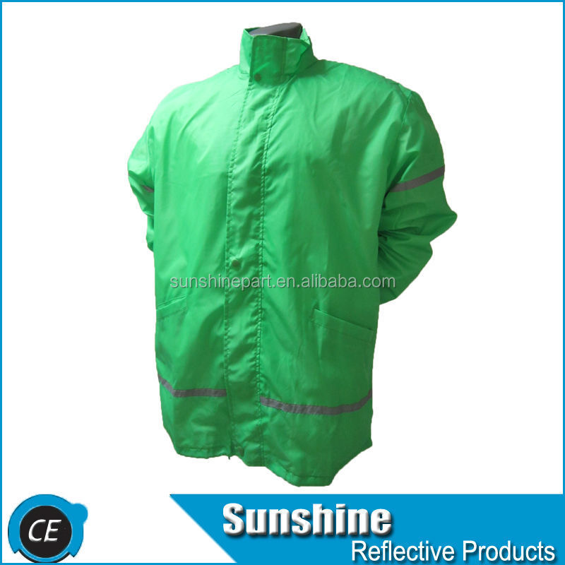 Top sell security fiber green reflective jackets for men