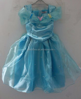 Child's Fair Tale Girls Cosplay Costume Cinderella Princess Party Performances Dress Girls Christmas Cinderella Costumes dress