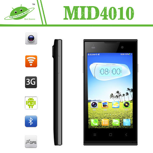 China supplier 4.0 inch Android 4.4 800*480 IPS screen smart phone with stylus