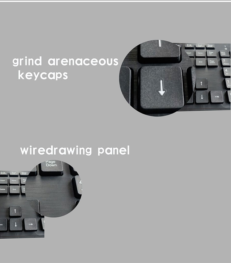 Ultra-thin wireless keyboard and mouse combo tastatur mit maus teclado e mouse sem fio klavye maus