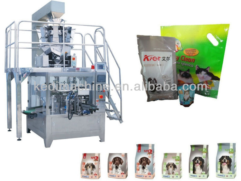 Automatic Preformed Pouch Pet food Packaging Machine Unit
