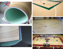 Manufacturer supply cheap price pvc indoor sports flooring of basketball court