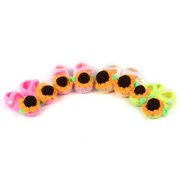 sunflower knitting shoe latest design slipper sandal for baby