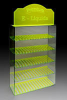 custom acrylic e cig display case e-liquid e-juice display case