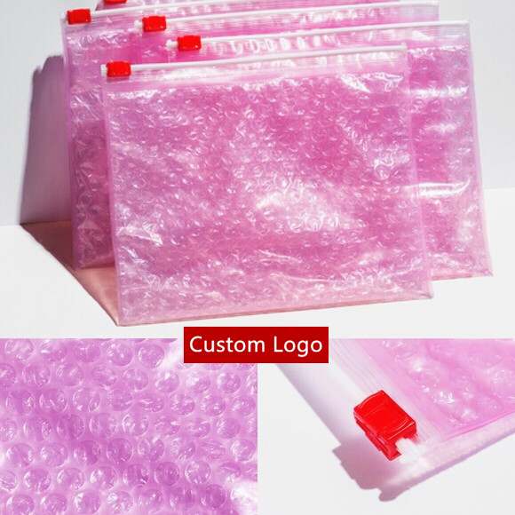 Self seal & ziplock esd bubble bag bubble packaging wrap translucent envelope cosmetic pouch bag