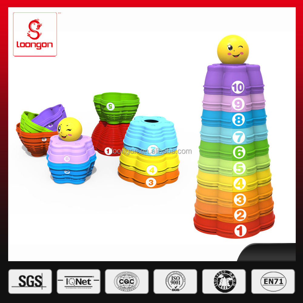 LOONGON Hot Sell baby block toy plastic funny toys Jenga toy