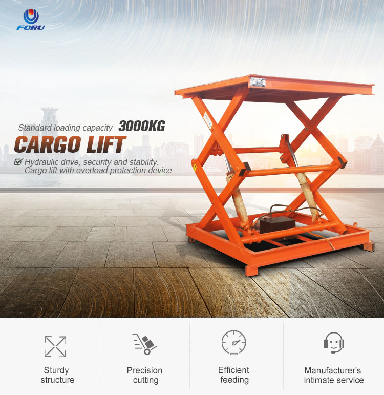 Low price 5m fixed scissor elevating platform for garage