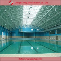Swimming pool steel truss audience roof