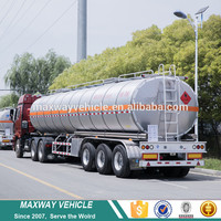 Steel Chemical Liquid Tank Truck Trailer
