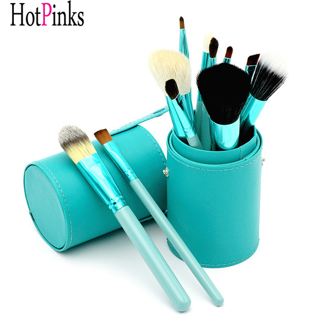 Wholesale Best Goat Hair Wooden Make Up Tools Brand Beauty Cosmetic Makeup Brush Set with Holder