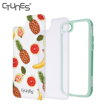 CTUNES Pineapples Pattern Soft TPU Bumper Hard Clear Back Panel Shockproof Cover for Apple iPhone 8