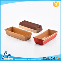 Top sale disposable 21.5*9*5cm decorative PE coated corrugated paper loaf pan