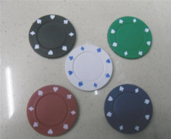 4g*0.4cm Texas Poker Chips With Five Different Values