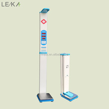 Health ultrasonic body weighing scale bmi height weight machine