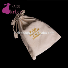 Custom 2017 new cotton hair stick bags drawstring organic pouches