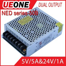 Factory best price dual switch mode 50w 5v 24v dual voltage switching power supply