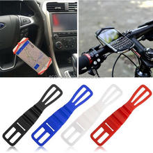 Universal Flexible Portable Silicone Elastic Bicycle Motorcycle Bike Car Handlebar Mount Holder for Mobile Phone for iPhone