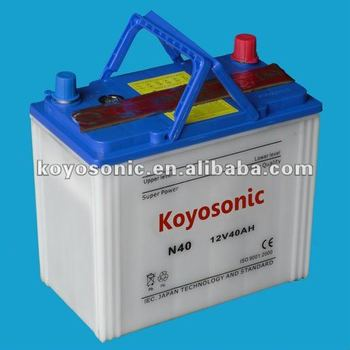 Chinese Lead Acid 12V40AH Batteries for Automobiles at Most Reasonable Price-N40