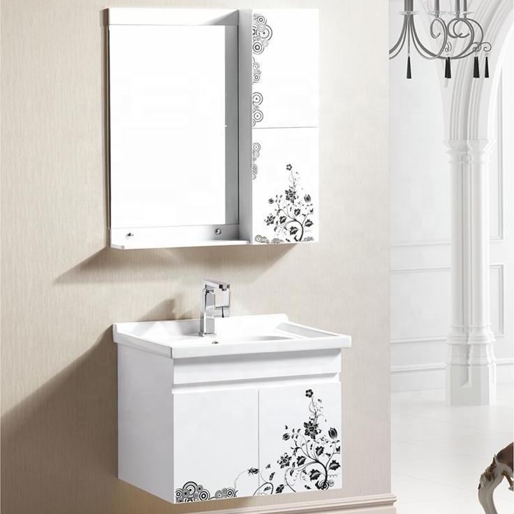 New design cheap and modern bathroom sets PVC bathroom cabinet with small size