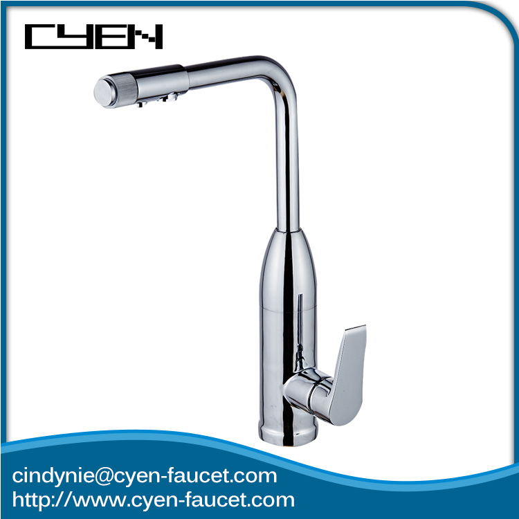 Delicate 2 Aerater Polished single handle kitchen faucet