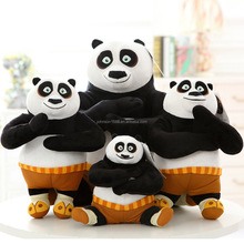 Popular Cartoon Animation Kungfu Panda Pulsh Toys Wholesale Soft Plush Panda Bears Gift for Children