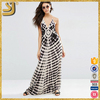 2016 New fashion casual print beach sexy halter maxi dress for women