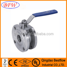 High quality 1pc stainless steel wafer type ball valve