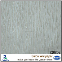 Barca 3208 series 2015 new self adhesive color vinyl pvc heavy embossed vinyl wall covering (6 colors)