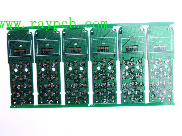 4Layer PCB 1oz green soldermask white silkscreen cell phone PCB 6UP assembled