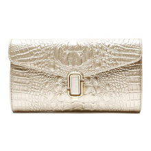 Hotsale Fashion Women Ladies Clutch Evening Bag With Chain Strap Genuine Leather Women Purse