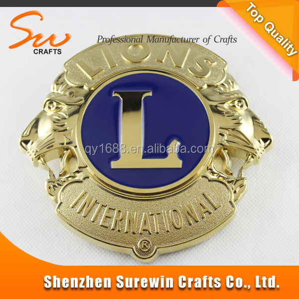 Make your own logo the lion club metal car logo badge with for Draw my own logo