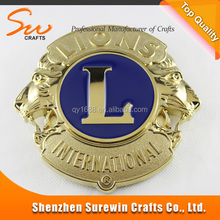 Make your own logo the lion club metal car logo badge
