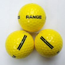 top quality yellow practice golf ball