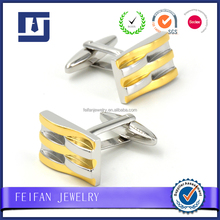 Best quality free design cufflink platinum and gold plating 3d engraved cufflinks jewelry gift
