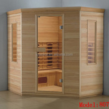 Dry steam sauna wooden Khan outdoor sauna steam room