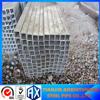 80X80/galvanize iron pipe strength/square gi steel pipes/galvanized hollow square tubing