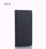flip case cover for sony xperia m5, newest no snaps design magnetic closure leather case for sony mobile