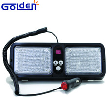 LED dash grille deck Recovery Flashing Strobe Amber Visor mounted emergency Lights