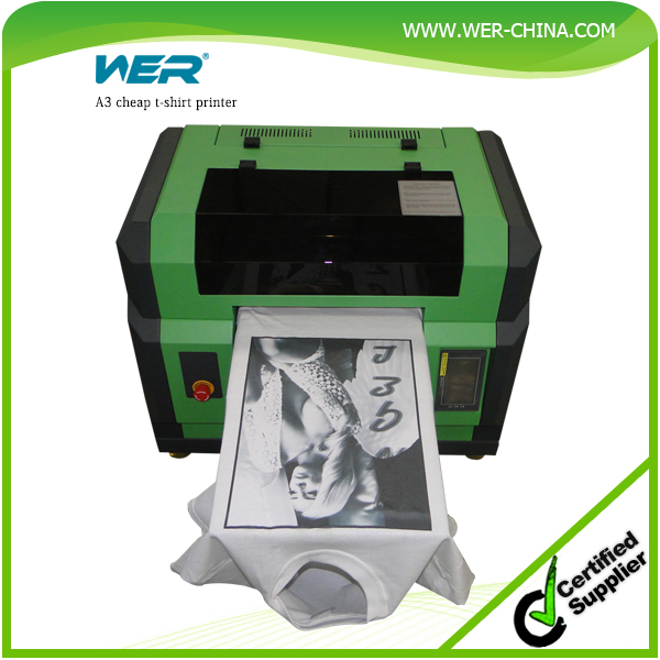 desktop small A3 size WER E2000T for any color fabric(white/black etc) tshirt printing machine, dtg printer for sale